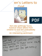 Childrens Letters God