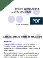 Estimarea costului capitalului