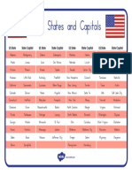 US2 G 001 USA States and Capitals Word Mat