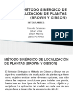 Método Sinérgico de Localización de Plantas (Brown