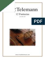 12 Fantaisies Pour Violon de Georg Philipp TELEMANN