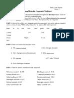 naming molecular compounds worksheet