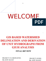 GIS BASED WATERSHED DELINEATION AND DERIVATION OF UNIT HYDROGRAPH FROM GIUH ANALYSIS
