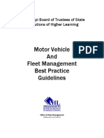 Motor Vehicle and Fleet Management Best Practice Guidlines