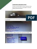 Manual de Restauración de Servidor Laptop