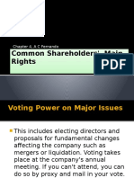 Common Shareholders Main Rights Chapter 4