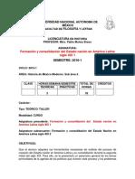Formacion y Consolidacion Del Estado Nacional en America Latina Siglo Xix 1