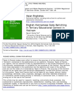 English-Vietnamese Code-Switching in Tertiary Educational Context in Vietnam