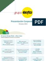 Grupo Exito, Presentacion Corporativa