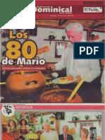 Los 80 de Mario Vargas Llosa