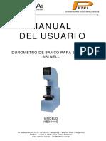 Manual Durometro Brinell HB3000B