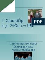 Giao an Ky Nang Giao Tiep