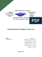 ENTIDADES DE INVERSION COLECTIVA