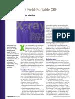 Advances in Field Portable XRF - Spectoscopy 07-02