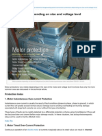 Motor Protection Depending on Size and Voltage Level