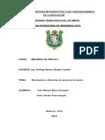 INFORME DE EXCAVACIÓN DE SUELOS