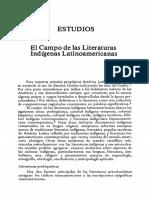 VAZQUEZ, Juan Adolfo El Campo de Las Literaturas Indígenas Latinoamericanas