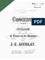 Accolay Violin Concerto
