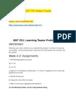 QNT 351 Week 4 LT Assignment.docx