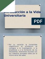 INTRODUCCIÓN A LA VIDA UNIVERSITARIA.