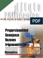1301-16 MATEMATICA Proporcionalidad- Semejanza-Razones Trigonométricas