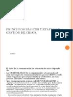 Principios Básicosios Básicos y Etapas de La Gestión de Crisis.