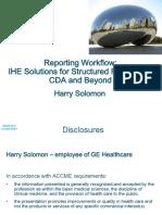 Reporting Workflow IHE SR CDA&Beyond RSNA2011