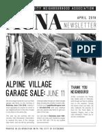 ACNA Newsletter April 2016