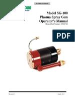 Model SG-100 Plasma Spray Gun Operators Manual Rev H