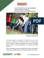 2016-04-03 CAMPAÑA DE PROPUESTAS, NO DE PALABRERÍA- OFRECE ENRIQUE SERRANO