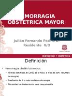 HEMORRAGIA OBSTETRICA MASIVA
