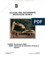 manual de escavadora 330D cat
