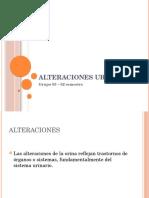 alteraciones urinarias , volumen, acompañantes, molestias, bibliografia