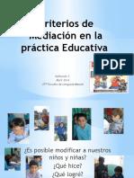 Criterios de Mediación en La Práctica Educativa