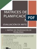 Matrices de Planificación (Evaluación Ex Ante) (1)