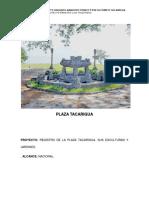 Ficha de Registro de Esculturas Plaza Tacarigua