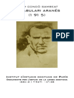 Josèp CONDÒ SAMBEAT. Vocabulari aranés (1915)