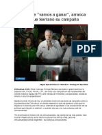 """2016-04-03 Al grito de """"vamos a ganar"""", arranca Enrique Serrano su campaña"""