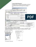 Instrucciones Para Crear Pedido en Excel