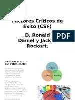 Factores Críticos de Éxito (CSF) PRESENTACION