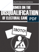 A primer on the disqualification of electoral candidates