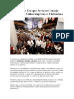 2016-04-03 Propone Enrique Serrano Consejo Ciudadano Anticorrupción en Chihuahua