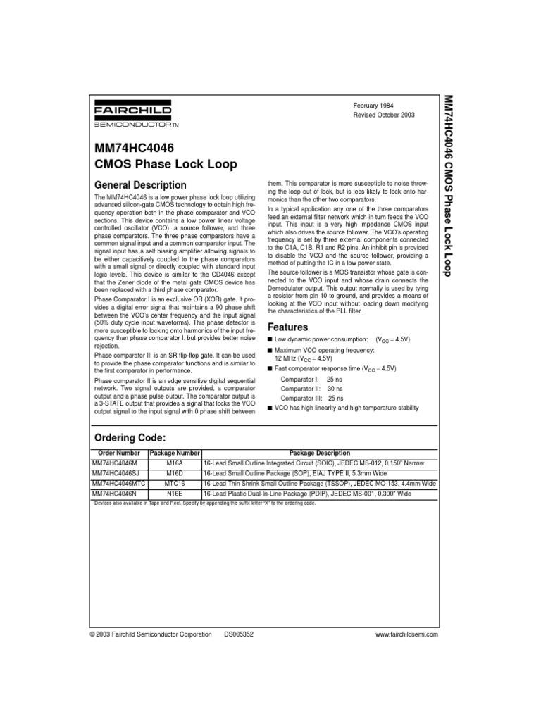 Mm74hc4046 Detector Radio Electronic Engineering