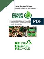 Movimientos Ecologicos y origen