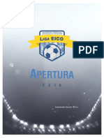 Liga Eico Apertura Reglas