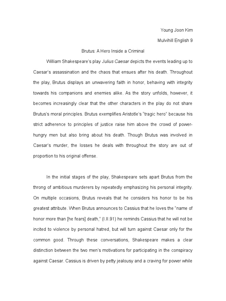 What Is A Thesis Of An Essay  Topic English Essay also Essay About High School Julius Caesar Essay  Marcus Junius Brutus The Younger  Mark Antony Best Essays In English