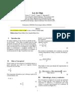 Informe 4 FISICA II Ley de Ohm