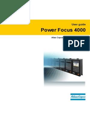Atlas Copco Pf4000 Manual | Safety | Input/Output