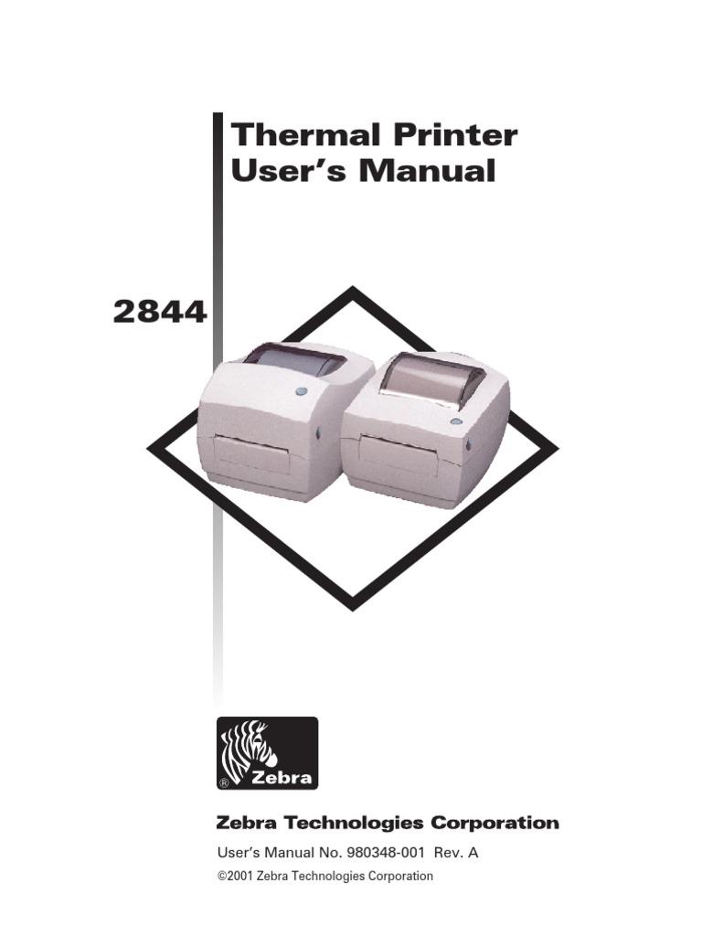 ZEBRA 2844UsersGuide | Printer (Computing) | Electrical