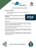 Direction´s guide - Describing a work partner Activity 4 Inglés 6